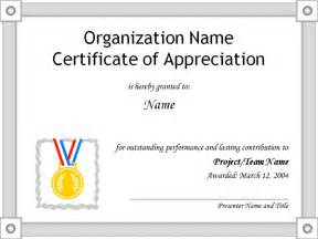 free certificates of appreciation templates certificate of appreciation template