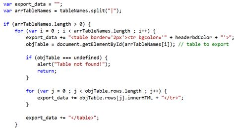 how to export html table data to excel sheet using php