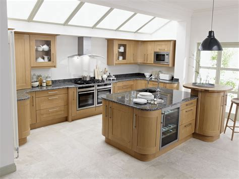 natural kitchen design broadoak natural contemporary wood kitchen in oak
