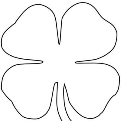 4 H Clover Coloring Pages by Four Leaf Clover Printables Clipart Best