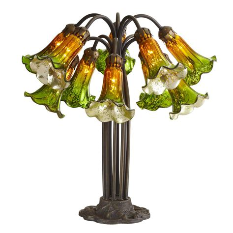 mercury glass ls home goods river of goods 21 in green and amber mercury glass