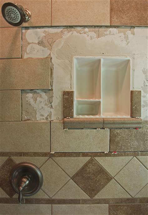 Dish Floor Shower - bathroom shoo soap shelf dish shower niche recessed