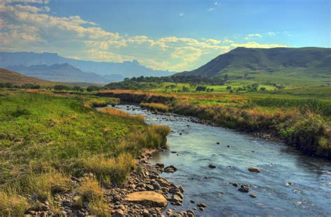 Landscape For Sale South Africa River In The Mountains A Landscape Of The Drakensberg Moun