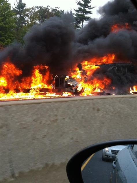 tractor trailer fire  delays  hwy  ctv barrie news