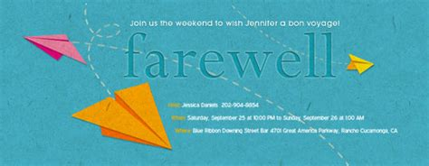Free Retirement And Farewell Party Invitations Evite Going Away Invitation Template Free