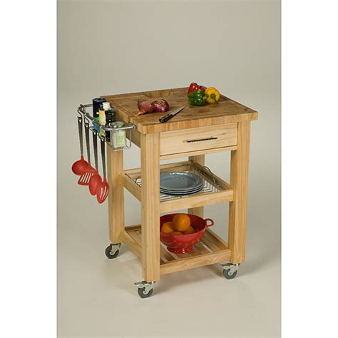 Chris Chris 24x24 Inch Natural Finish Pro Chef Kitchen Kitchen Work Station Island