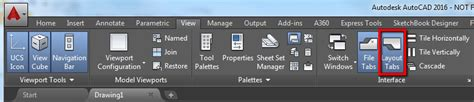 autocad layout and model tabs how to turn on the model and layout tabs in autocad