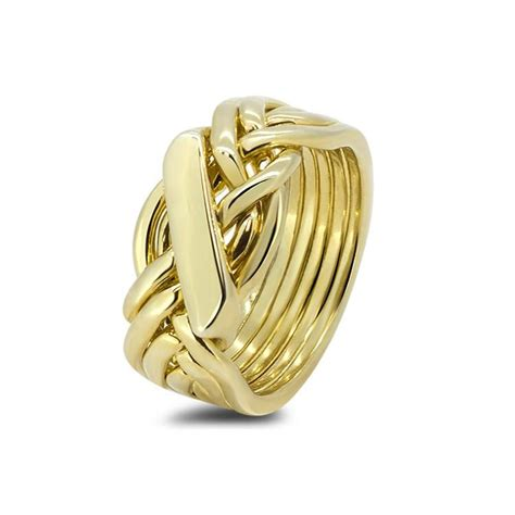 mens gold 61h m puzzle rings creations