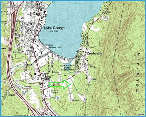 map of lake george ny new york map lake george travelsfinders