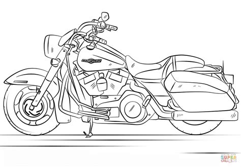 harley motorcycle coloring pages to print harley davidson road king coloring page free printable