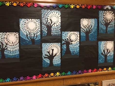 fifth grade winter art projects artventurous winter sky mosaics