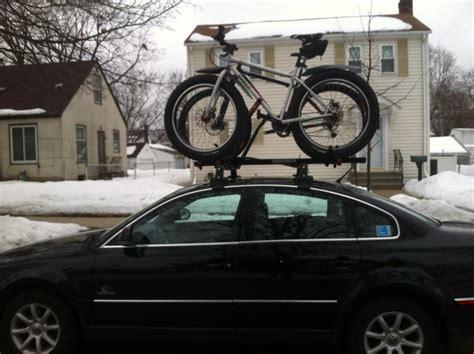 bike on roof rack mtbr