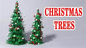 christmas decorations to make at home for free how to make paper christmas tree making of paper