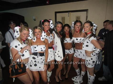 girl group themes for halloween dalmations and cruella de vil girls group costume rave
