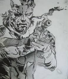 metal gear solid 3 drawing by portraitpaulo on deviantart