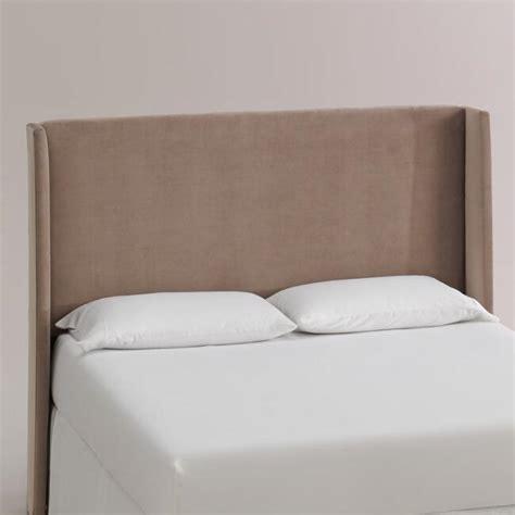 Velvet Bryn Upholstered Headboard World Market World Market Headboards