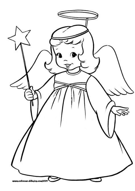 imagenes de navidad con angeles dibujos de navidad para colorear