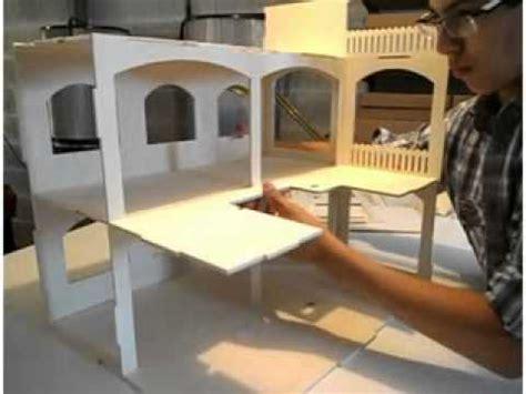 Construire une maison de poupée Rosine Minicrea   YouTube