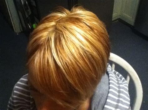 copper lowlights for short blonde hair warm copper lowlights and buttery blonde highlights