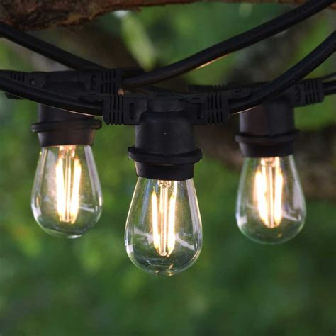 vintage string lighting vintage outdoor string lights 100 black led s14