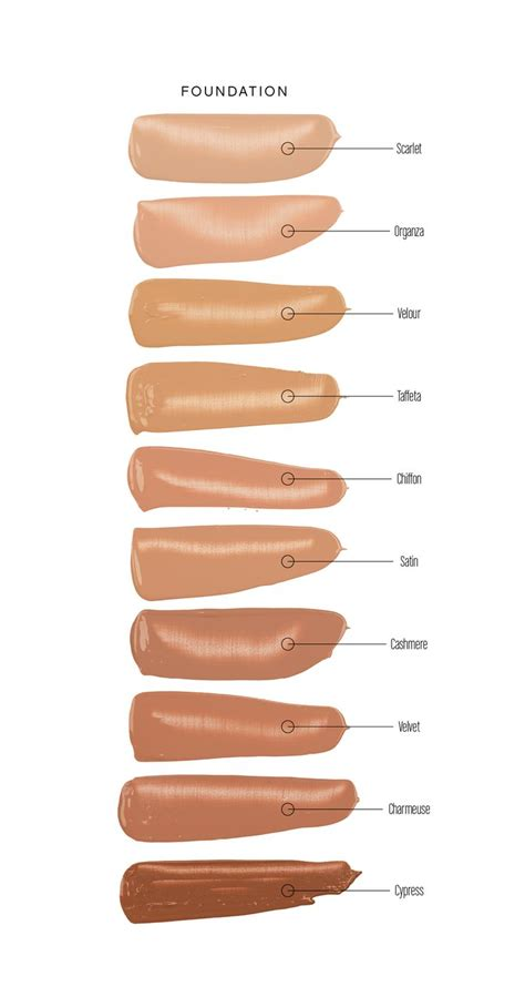 foundation colors best 25 younique touch foundation ideas on