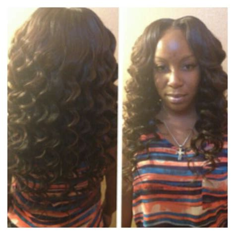 sew in with tightcurls wand curls sew in things i love pinterest