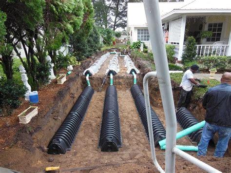 drain field installation gallery averett septic tank