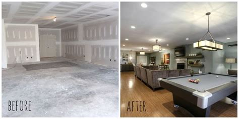 basement renovation before after before after