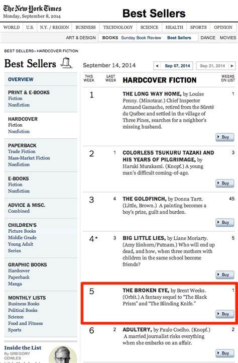 new york times best sellers 2014 brent weeks s blog new york times best seller