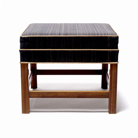 mahogany ottoman gallery bac bench ottoman in mahogany and horsehair by