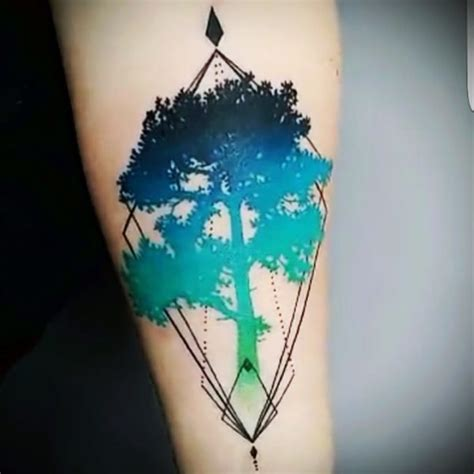 watercolor tree tattoo tattoo collections