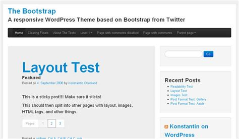 quiz theme bootstrap the bootstrap wordpress theme review