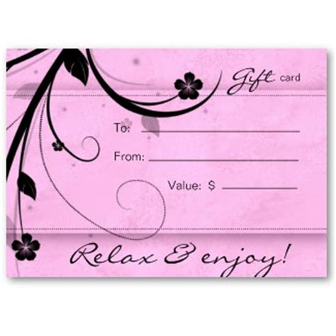 spa day gift certificate template spa gift certificates in scottsdale new serenity