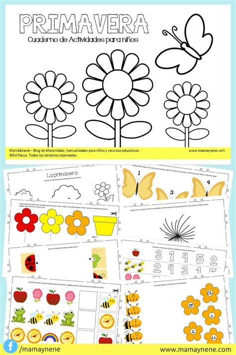 imagenes actividades matematicas para niños preescolar primavera cuaderno de actividades para ni 241 os mam 225 nen 233