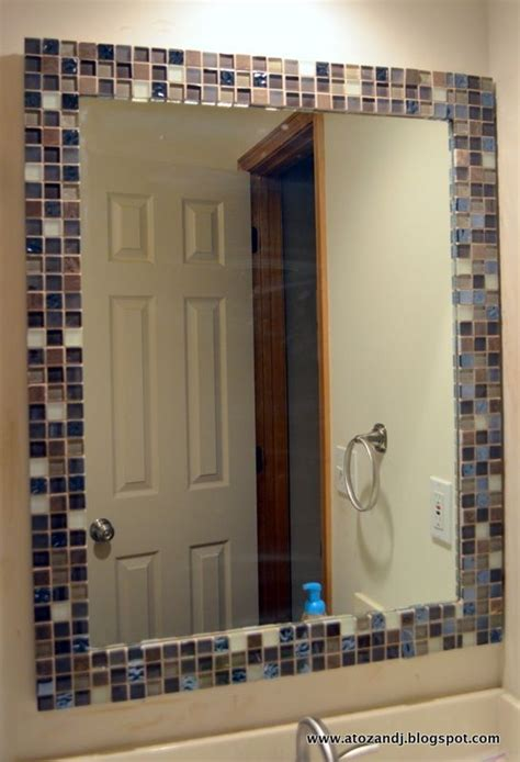mosaic tile around bathroom mirror 25 best ideas about tile around mirror on pinterest