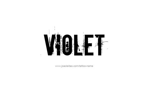tattoo name viola violet name tattoo designs