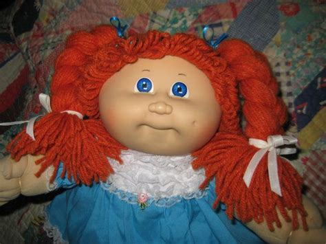 how to make cabbage doll hair styles vintage cabbage patch kid doll ginger red hair girl