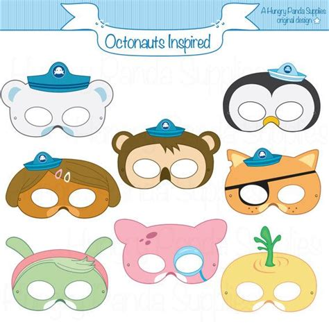 octonauts templates octonauts inspired printable masks octonaut mask