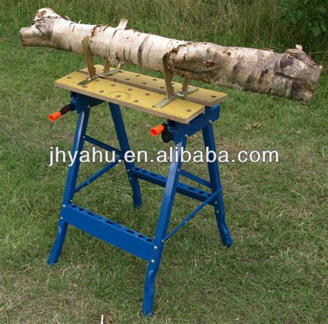 log cutting saw bench saw horse log wood holder cl jaws fits workmate work