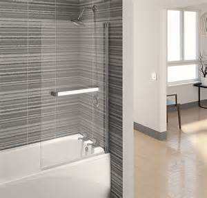 bath and shower screens aqualux aqua 4 clear glass square bath shower screen 750 x