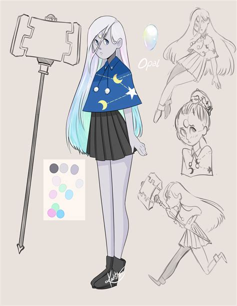 blue opal gemsona gemsona oc opal by kxddy on deviantart