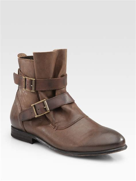 h by hudson starley vintage inspired buckle ankle boots in