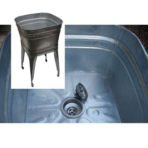 galvanized laundry sink with stand best 20 wash tubs ideas on rustic outdoor