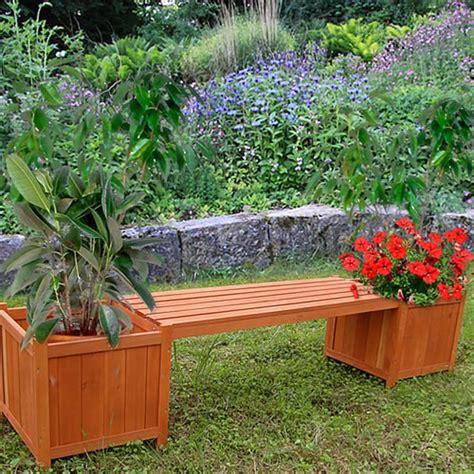 Bac A Avec Banc by Banc De Jardin Avec Bacs 224 Fleurs En Bois Massif