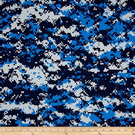 blue urban pattern urban camouflage blue discount designer fabric fabric com