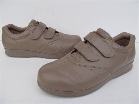 sas comfort shoe store sas me too mocha leather velcro comfort walking shoes