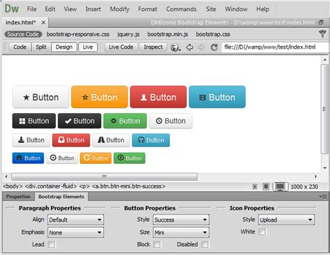 bootstrap layout icons bootstrap elements features part 2 buttons images