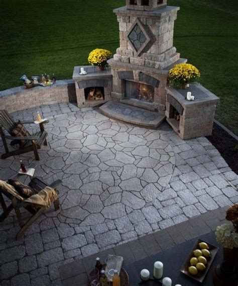fireplace in backyard pinterest