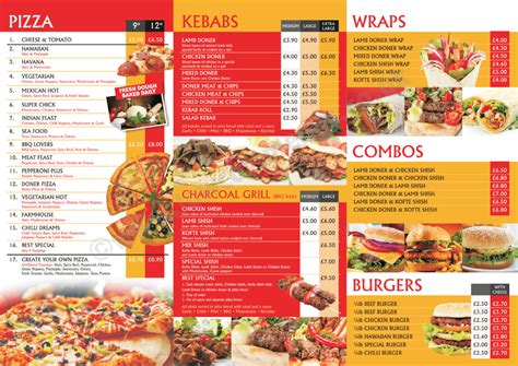 takeaway menu template free 1 popular sle templates