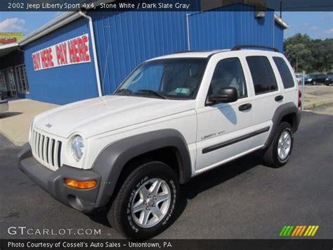 jeep liberty white interior stone white 2002 jeep liberty sport 4x4 dark slate